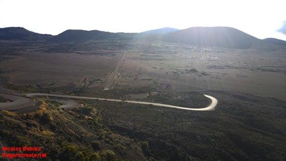 La Plaine des Sables, vue de haut.
